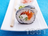 Рецепта Суши Футо Маки за вегетарианци с моркови и крема сирене